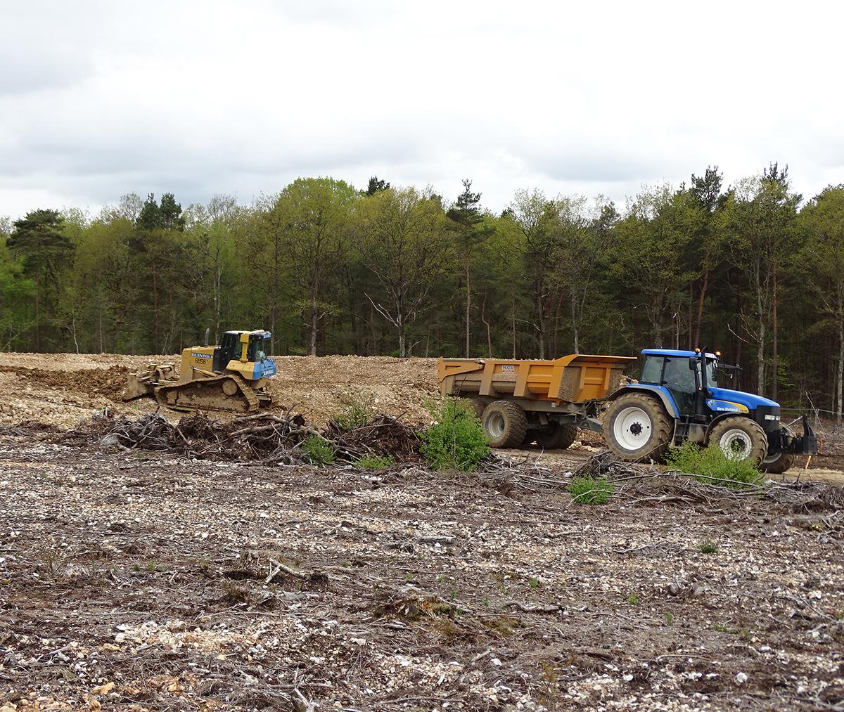 Décharge sauvage : du 9 au 13 mai 2016, extraction des quantités résiduelles de déchets